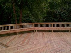 deck - w/ bench