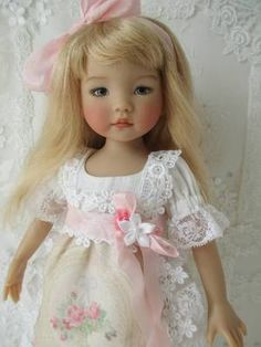 "Decidedly Romantic Doll Clothes by Anne Louise 13"" Dianna Effner Doll Outfit"