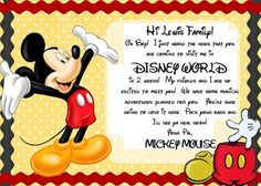 Free Printable: Invitation for Disney World Trip . Oct Free Printable: Invitation for Disney World TripAn Easy Way to Surprise Your Kids with a Disney Disneyland Paris, Disneyland Vacation, Disney Vacations, Disney Trips, Disney Cruise, Disney 2017, Vacation Packing, Vacation Ideas, Mickey Mouse Letters