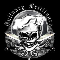 Chef Skull 6: Culinary Brilliance - A cool chef skull design by sdesiata on t-shirts, hoodies, phone covers, and more, @ RedBubble! E-mail : sdesiata@yahoo.com
