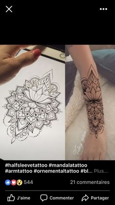Arm tattoo - - Arm Tattoo – You are in the right place about Arm Tätowierung - Arm Tattoo, Hand Tattoos, Rosen Tattoo Arm, Dotwork Tattoo Mandala, Mandala Tattoo Design, Henna Tattoo Designs, Tattoo Designs And Meanings, Body Art Tattoos, Tattoo Ideas