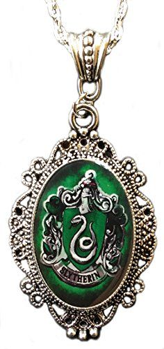 Alkemie Harry Potter Slytherin House Crest Cameo Pendant Necklace >>> Want additional info? Click on the image.