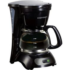 Chefman RJ144M 4 Cup Switch Coffee Maker Black ** More info could be found at the image url.