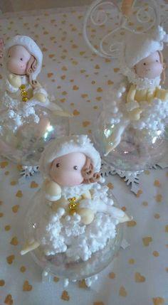 Christmas Clay, Christmas Crafts, Xmas, Polymer Clay Flowers, Polymer Clay Art, Baby Pasta, Clay Jar, Clay Houses, Clay Figurine