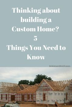 Thinking about designing a custom home? Read this first. Some great tips here for anyone interested in building a new house.