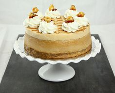 Dulce de Leche Cheesecake with Caramel Mousse