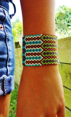 Free Spirit Friendship Bracelet Cuff by PEACEdTogether1 on Etsy, $48.00