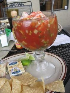 Traditional Mexican Shrimp with Clamato | Shrimp Cocktail by Susan Manlin Katzman