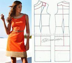 Modelagem vestido. Fonte: https://www.facebook.com/photo.php?fbid=676116749083933=a.262773027084976.75978.143734568988823=1