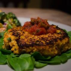 """Sweet Potato Salmon Fish Cakes 