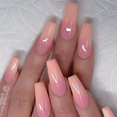 Here is Pink Gel Nail Designs Ideas for you. Pink Gel Nail Designs peach pink gel co. Fall Nail Art Designs, Ombre Nail Designs, Nail Polish Designs, Acrylic Nail Designs, Nails Design, Acrylic Nails, Marble Nails, Pink Gel, Pink Ombre Nails