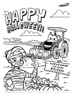 Fired Up Free Tractor Coloring | Dibujos | 305x236
