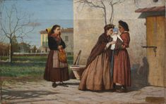 Silvestro Lega - La visita alla balia 1870