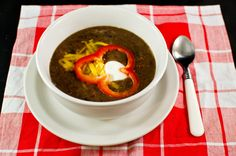 black bean soup. delicious. easy. healthy. perfect for a cold winter day.