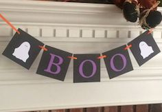 """""""boo"""" hanging sign"""