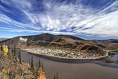 Dawson City as seen from the Top of the World highway. All About Canada, Yukon River, Yukon Territory, Top Of The World, British Columbia, Alaska, Tourism, Beautiful Places, Scenery