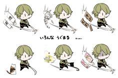 埋め込み画像 Nikkari Aoe, Touken Ranbu Characters, Japanese Games, Anime Neko, Anime Style, Manga Art, Concept Art, Kawaii, Cartoon