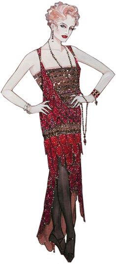 MAME costume design by Gregg Barnes, who always treats costumes like couture, because he can!