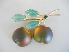 Vintage Austria Fruit Peach Pin