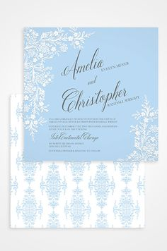 Incredibly elegant designs grace this wedding invitation designed by ClairePettibone.