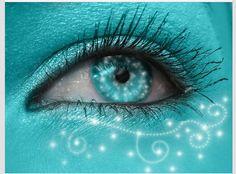 Shining Aqua by keashie on DeviantArt Verde Tiffany, Azul Tiffany, Turquoise Eyes, Aqua Eyes, Turquoise Makeup, Shades Of Turquoise, Shades Of Blue, Pretty Eyes, Beautiful Eyes