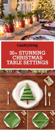 Pin these ideas! Save these stunning Christmas table settings for later! Don't forget to follow Country Living on Pinterest for more great Christmas decorating ideas.