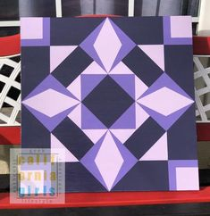 """This listing is for a ready made 1inch 24""""x24""""inch barn quilt. Each of our barn quilts are painted on a approximately 1 inch birch wood. Each barn quilt we make has 2 coats of exterior primer. We then use exterior acrylic house paint, whereby we use 3 coats on each color. We finish up our barn Barn Quilt Designs, Barn Quilt Patterns, Quilting Designs, Barn Quilts For Sale, Painted Barn Quilts, Barn Signs, Barn Wood Crafts, Barn Art, Square Quilt"""