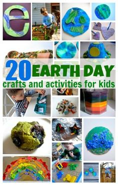 From No Time for Flash Cards - 20 Earth Day Crafts & Activities For Kids - Pinned by @PediaStaff – Please Visit ht.ly/63sNt for all our pediatric therapy pins