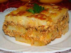 Musaca de cartofi cu carne – Flori's Kitchen Kitchen Chemistry, Lasagna, Dinner Recipes, Food And Drink, Cooking Recipes, Ethnic Recipes, Cookies, Recipes, Biscuits