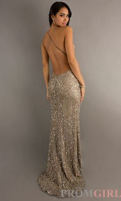 Backless Sequin Gown by Scala 47521. Wowza probably never have a place to wear it, buttt still