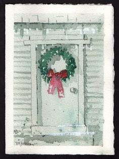 Beautiful original WATERCOLOR Christmas Card