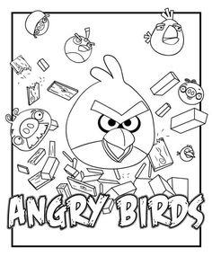 kleurplaat Angry Birds - angry birds 5
