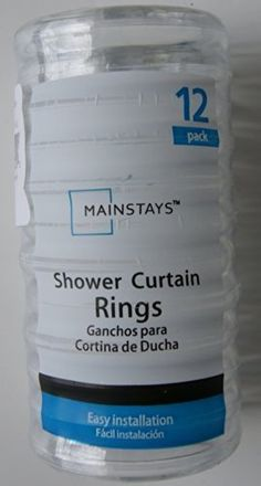Basic Plastic Shower Curtain Rings - Clear - 12pk ** Click on the image for additional details.