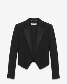 Saint Laurent - Iconic Le Smoking Spencer Jacket - Black wool gabardine (US$2,950)