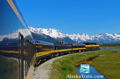 Alaska Railroad Photos and Train Pictures | AlaskaTrain.com Northbound train with Mt. McKinley in the background