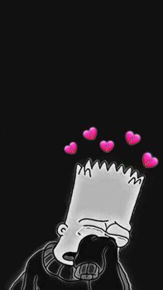 New iphone wallpaper vintage black style Ideas Simpson Wallpaper Iphone, Cartoon Wallpaper Iphone, Mood Wallpaper, Iphone Background Wallpaper, Trendy Wallpaper, Dark Wallpaper, Cute Cartoon Wallpapers, Aesthetic Iphone Wallpaper, Disney Wallpaper