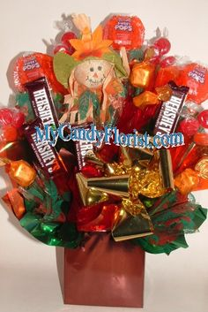 FALL Candy Bouquet  THANKSGIVING CENTERPIECE-ONLY ONE- HURRY!