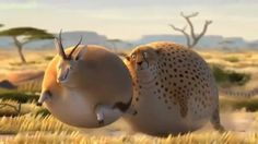 Digital art at its finest - inflated animals in Africa on Vimeo...grappige animatie