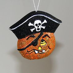 Jack O Lantern Pirate Halloween Ornament Party by barbaraportraits, $8.99