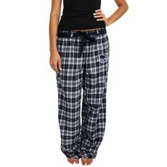 ANYONE Who knows me knows that I LOVE PSU and I LOVE PAJAMA PANTS! What better combination??? Penn State Nittany Lions Ladies Revelation Flannel Pants - Navy Blue