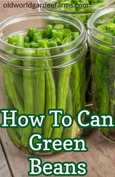 Pressure Canning Green Beans, Canning Beans, Canning Tips, Canning Recipes, Jam Recipes, Cooker Recipes, Can Green Beans, Cooking Green Beans, Vodka Potato