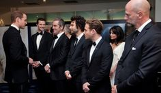 """Look at Richard Armitage grinning in the background!<-- Richard: """"I just met a Prince, and I am still more majestic!!"""""""