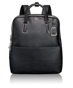 Tumi Olivia Convertible Backpack Perfect for travel, carry on, hands free lugguge. Black Leather backpack for travel. Tumi Backpack, Black Backpack, Leather Backpack, Diy Backpack, Laptop Backpack, Travel Backpack, Leather Bags, Black Leather, Henri Bendel