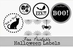 Free Printable Halloween Labels by The Silly Pearl