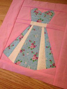 Quilt block 2 - my vintage dresses quilt