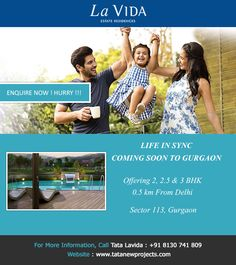 TATA La VIDA - 2 & 3 BHK luxury apartments in sector 113 Gurgaon just 0.5 Km From Delhi Border & Well Connected to Dwarka Expressway Gurgaon.