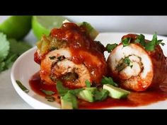 Enchilada Chicken Roll-Up Recipe | Skinnytaste