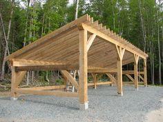Plans For Wood Storage Shed Shed Plans 12x16, Wood Shed Plans, Diy Shed Plans, Firewood Shed, Firewood Storage, Loafing Shed, Wood Storage Sheds, Run In Shed, Carport Designs