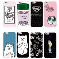 Find More Phone Bags & Cases Information about For iPhone 4 5 6 7 S Plus SE 5C Trendy Girl  Love Potion Chill Pills Ripndipp Rock Kitten Cat MLGB Simpson Printed Case,High Quality silicone candle,China silicon cupcake cases Suppliers, Cheap case touchpad from World Design Phone Accessories on Aliexpress.com