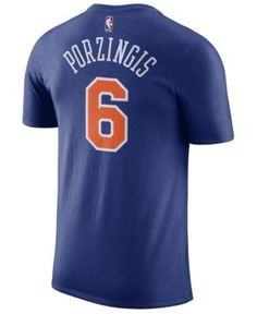 Nike Men s Kristaps Porzingis New York Knicks Name   Number Player T-Shirt  Men - Sports Fan Shop By Lids - Macy s 84519a5f4